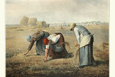 The Gleaners, engraving