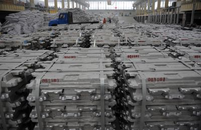 Chinese Aluminum ingots ready to roll