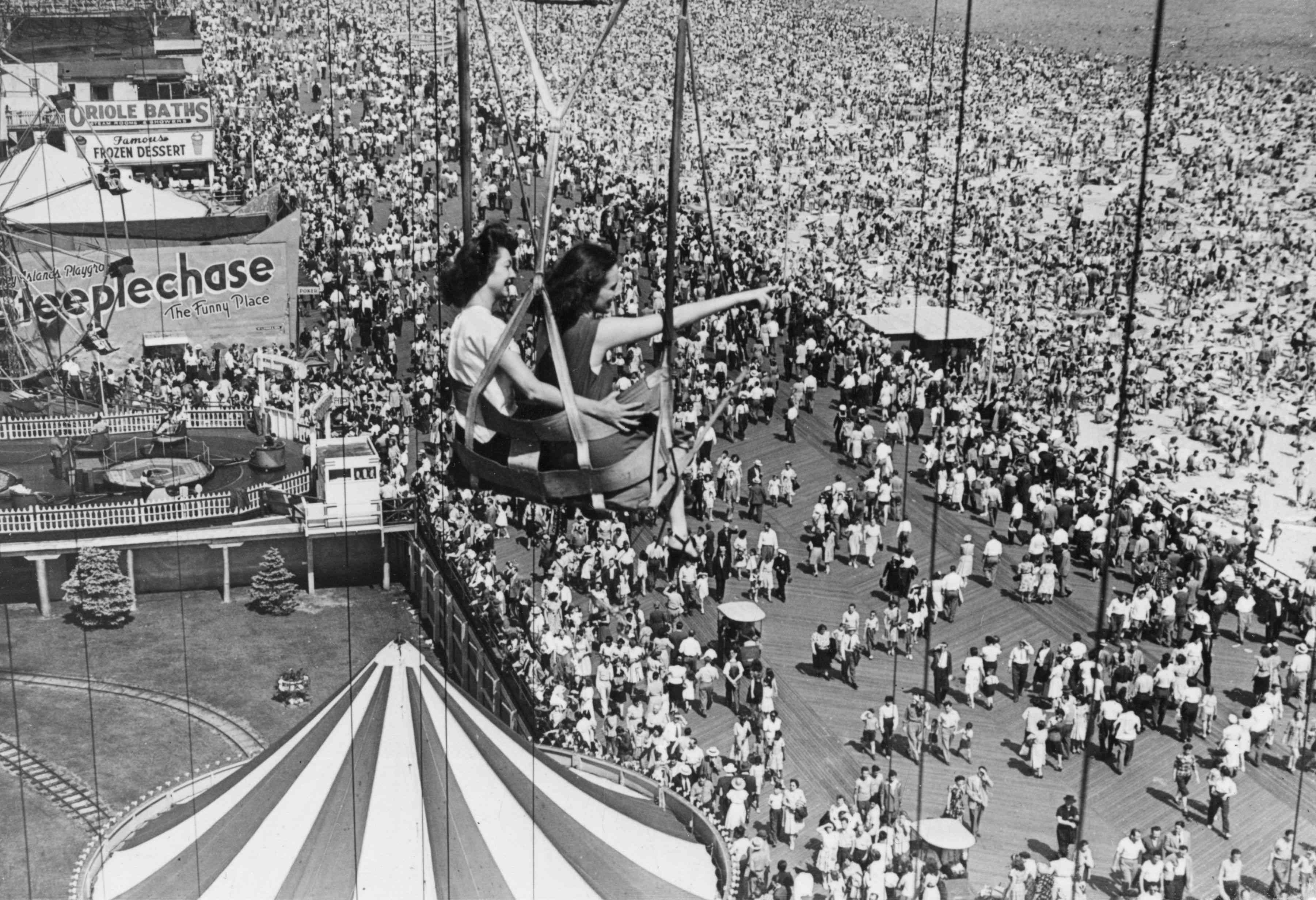 Crowds at Coney Island