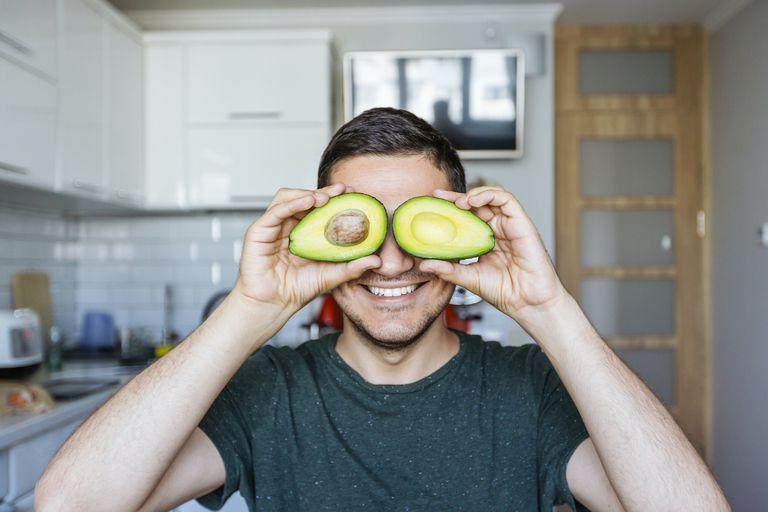 man with avocado eyes