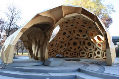 ICD/ITKE research pavilion with sea urchin-like details