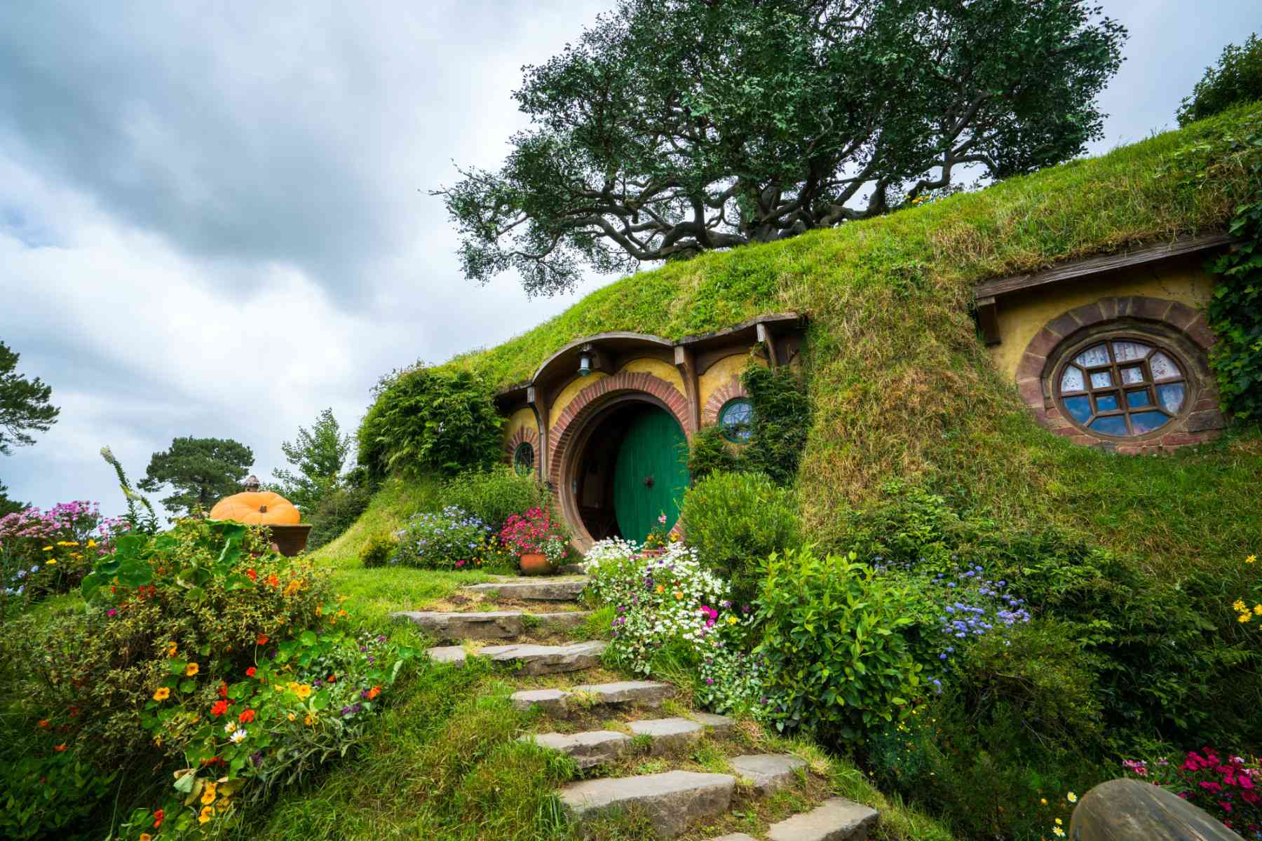 The preserved set of Bag End in Hobbiton located in New Zealand