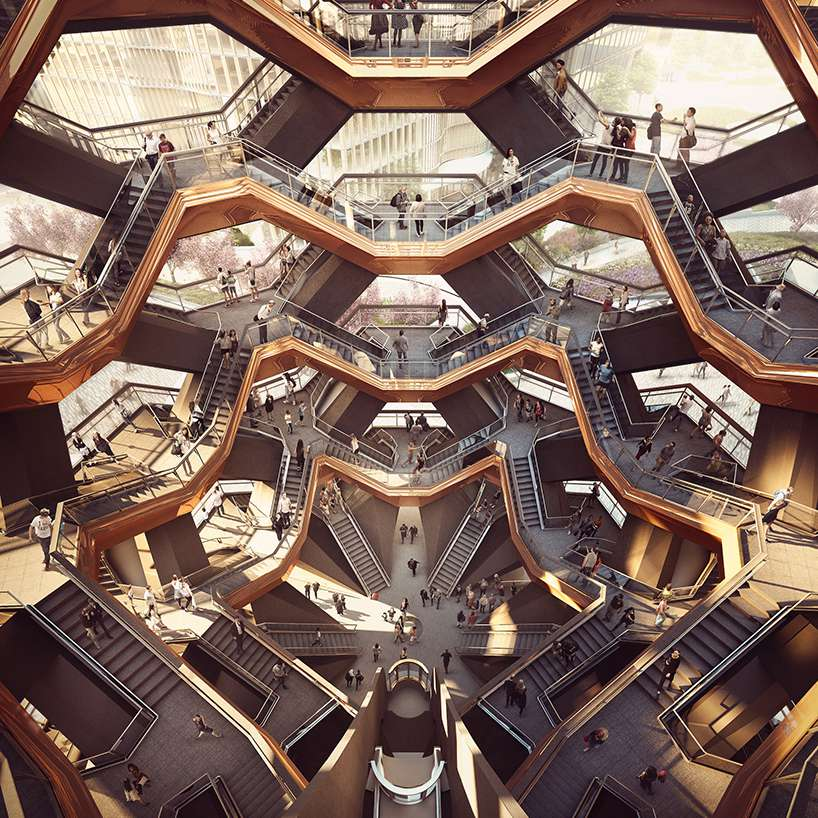 Vessel, a staircase-heavy sculpture by British designer Thomas Heatherwick that will be built at Manhattan's Hudson Yards mega-development.