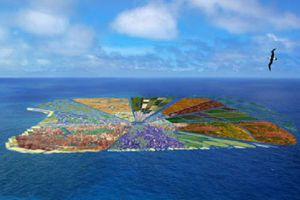 recycled island illustration