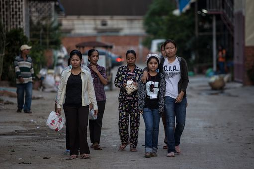 Garment workers in Cambodia
