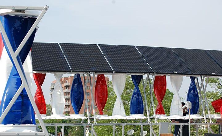 Windstream SolarMill hybrid solar wind system