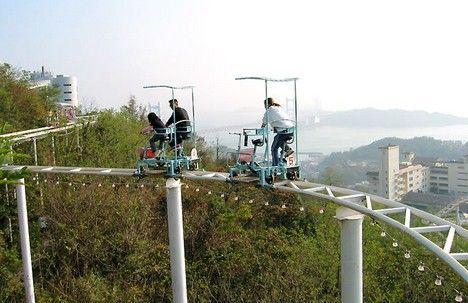 Montaña rusa estilo SaberTodo en Japón: funciona con pedales