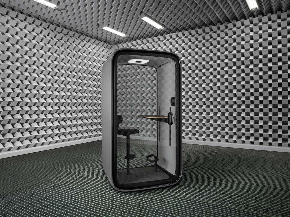 Framery in acoustic chamber