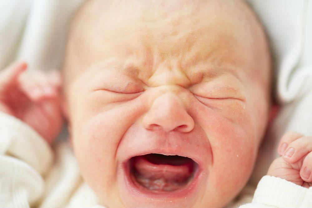 Newborn baby crying