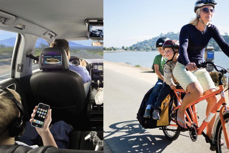 moving kids by cargo bike