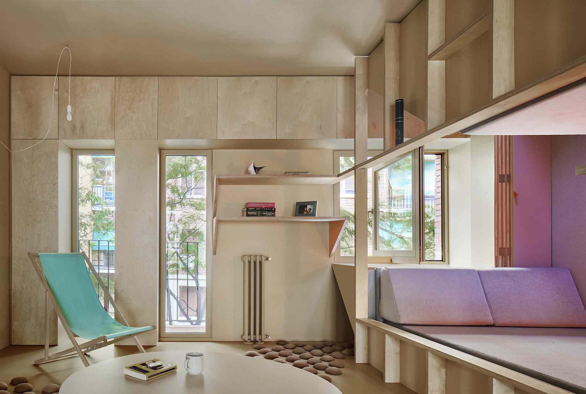 small apartment renovation madrid Husos Architects interior
