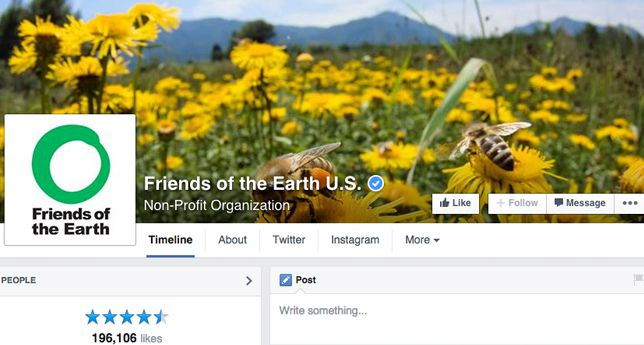 Friends of the Earth on Facebook