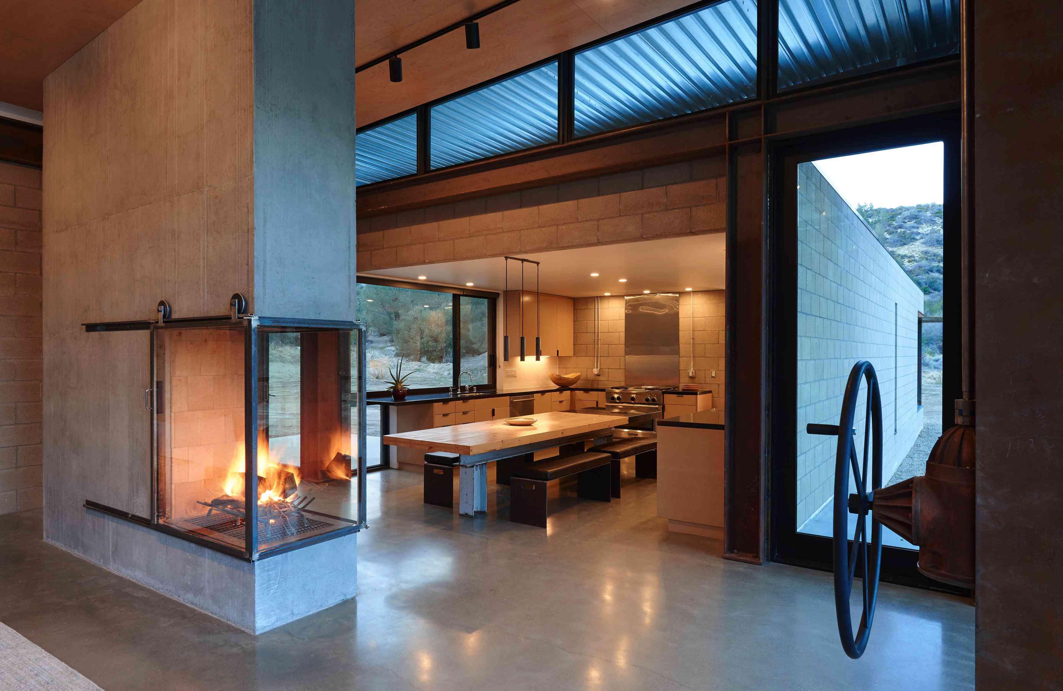 Sawmill interior living room