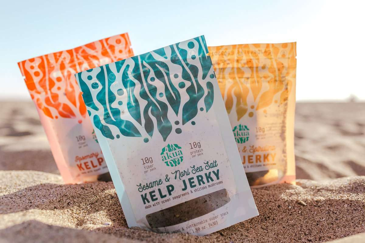 3 packages of kelp jerky