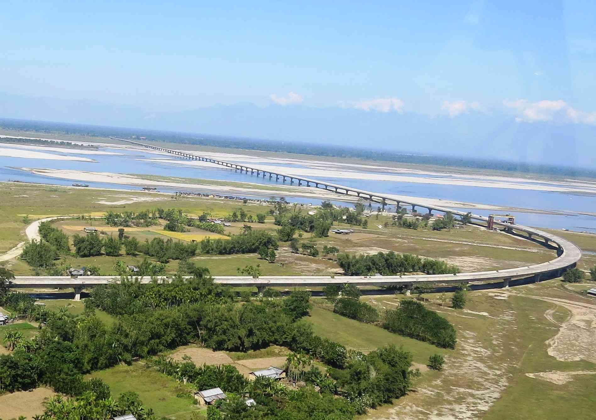 Dhola-Sadiya Bridge on a clear day in India.