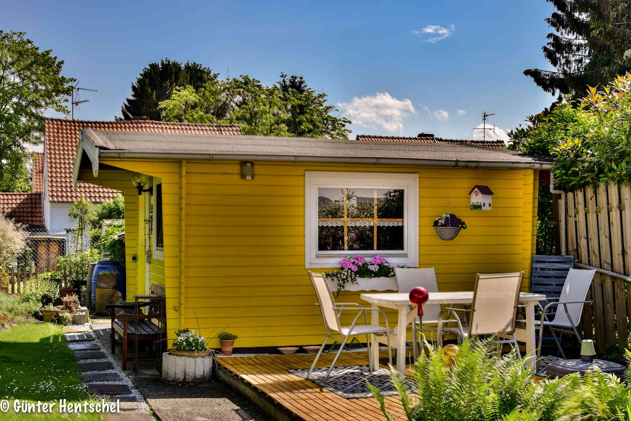 colorful garden house