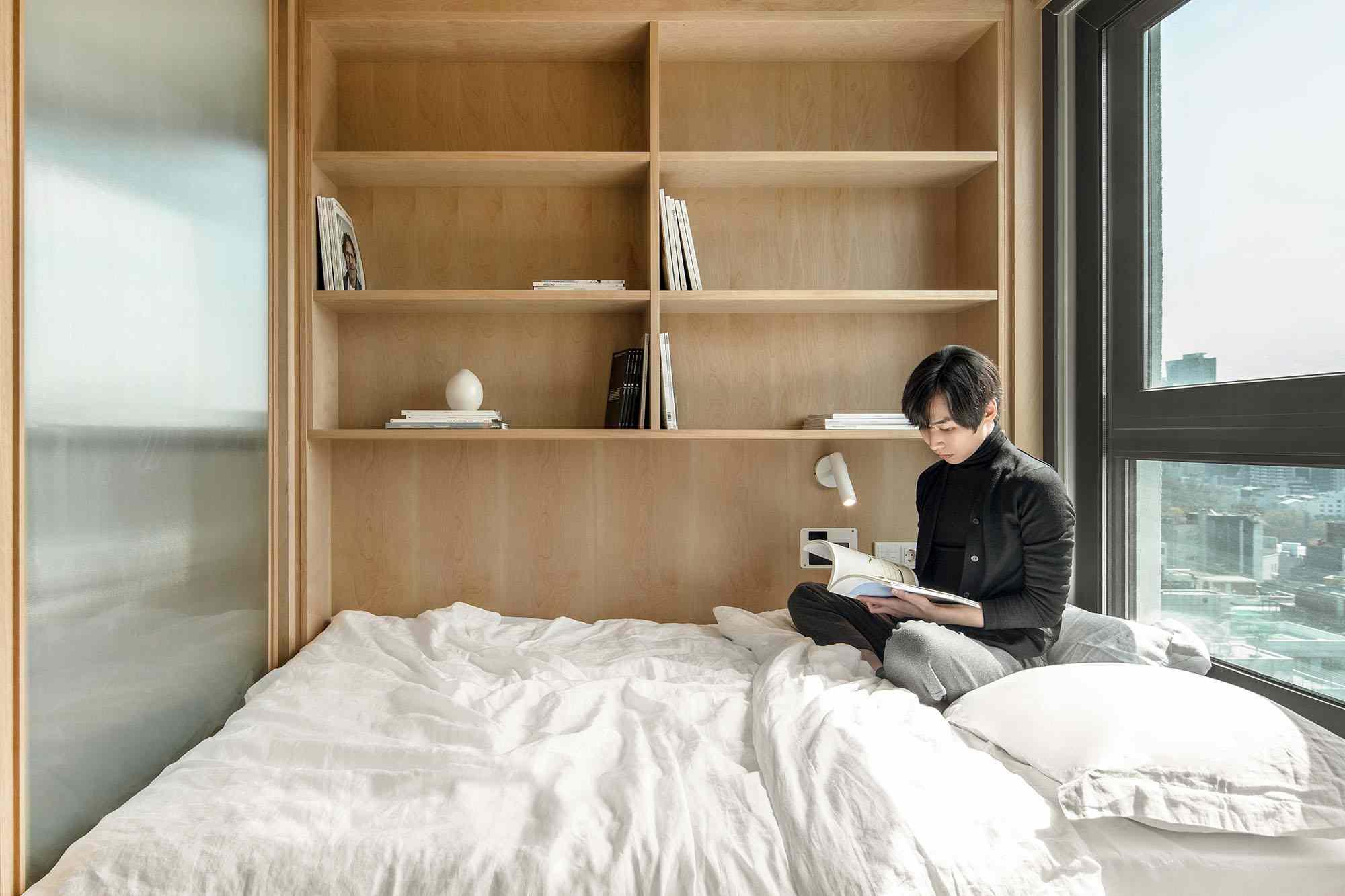 LIFE micro-apartments coliving Ian Lee bedroom