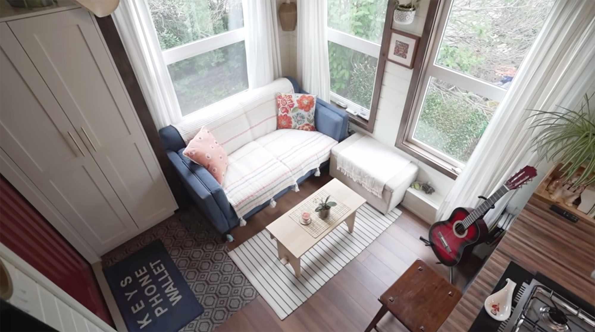 Serendipity tiny house living room