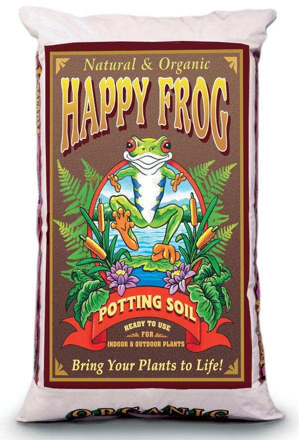 A bag of Happy Frog Potting Soil