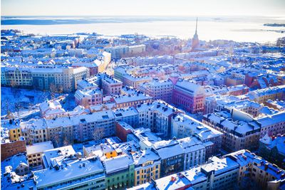 Helsinki in snow