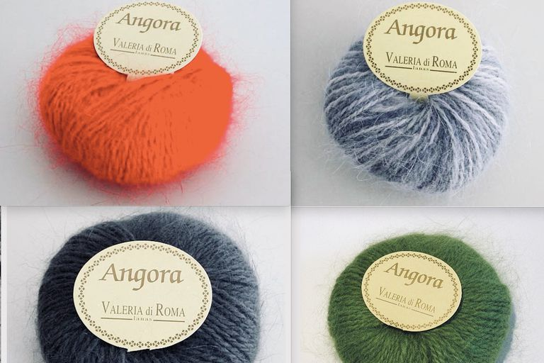 skeins of angora wool