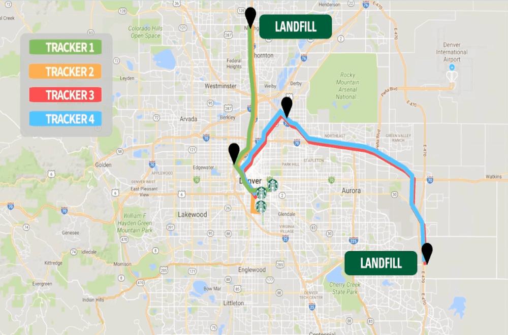 map of Denver landfills