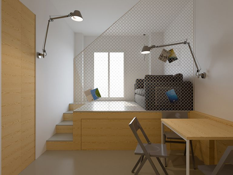maison b micro-apartment POINT.ARCHITECTS living room