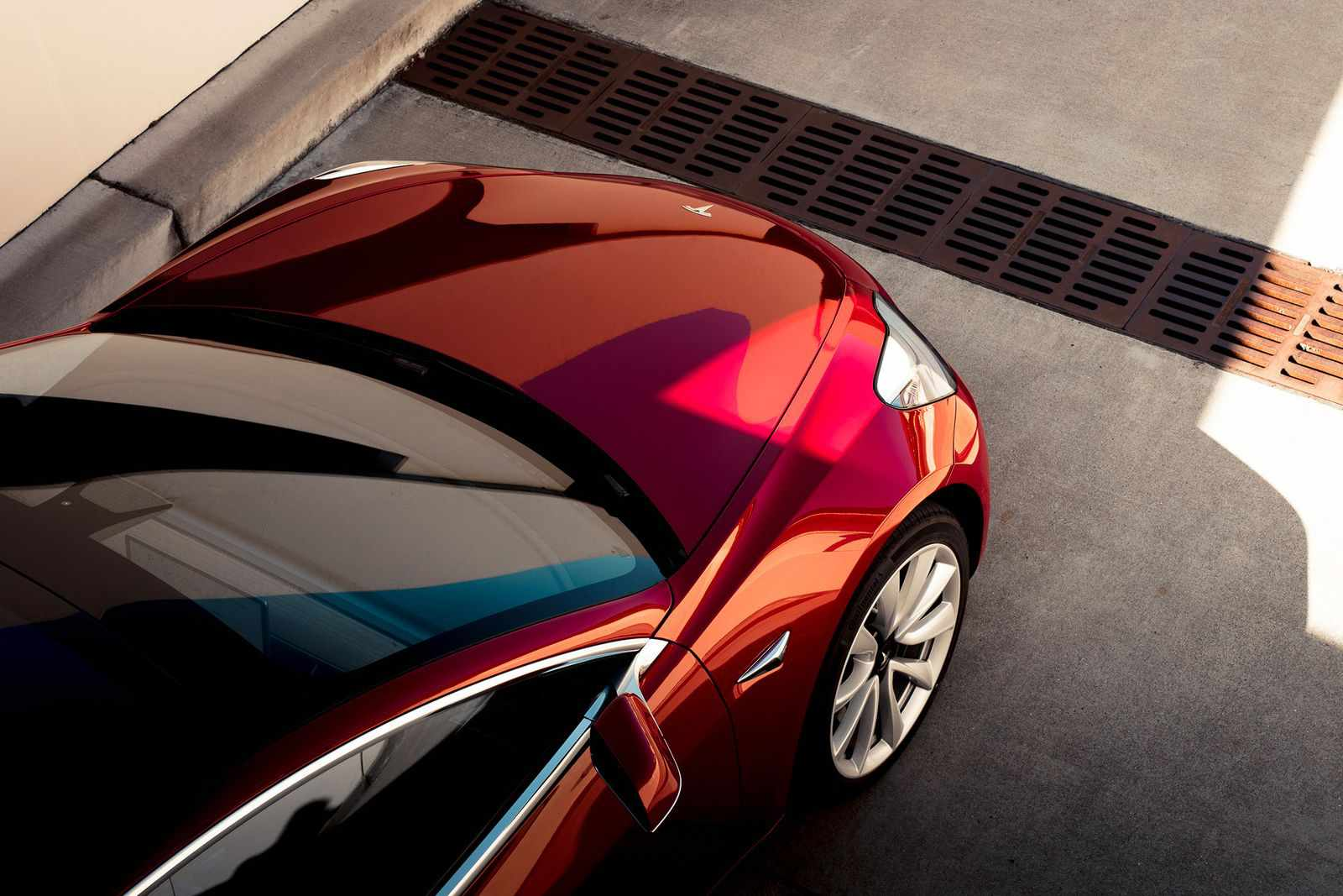Tesla 3 from above
