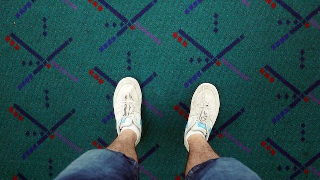 Horrible alfombra del aeropuerto nombrada Gran Mariscal en el Desfile de Portland