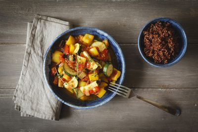 ratatouille with red rice