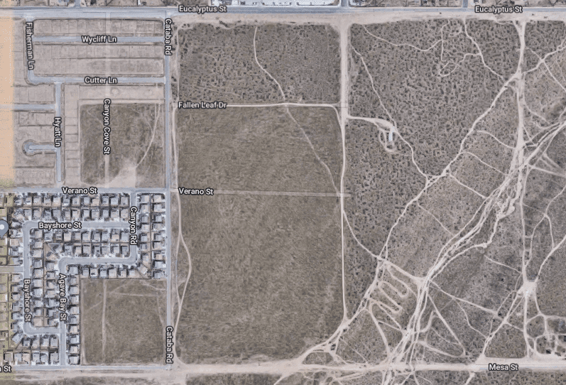 Location of tumbleweed 'invasion' in Victorville, California