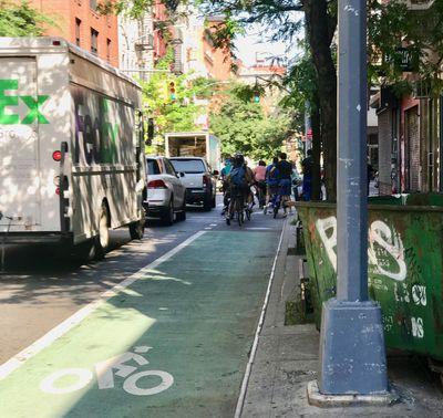New York bike lane moves more people than the car lane