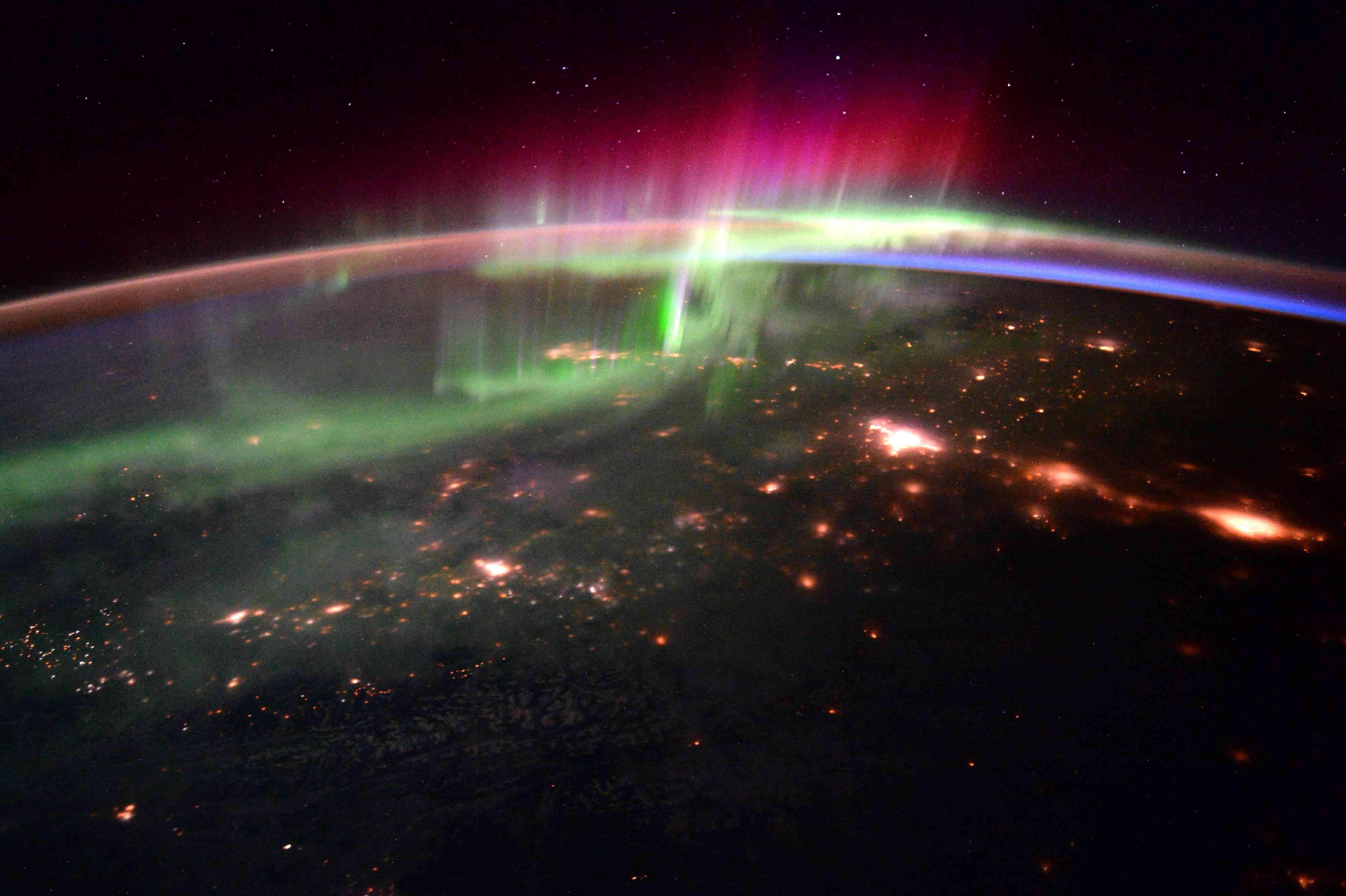 aurora borealis from space