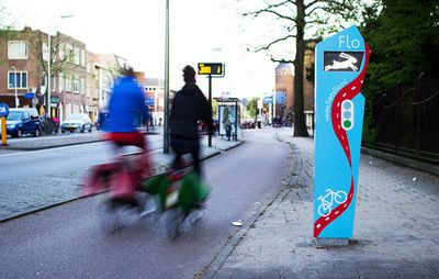 Flo, a bike traffic system in Utrecht, the Netherlands