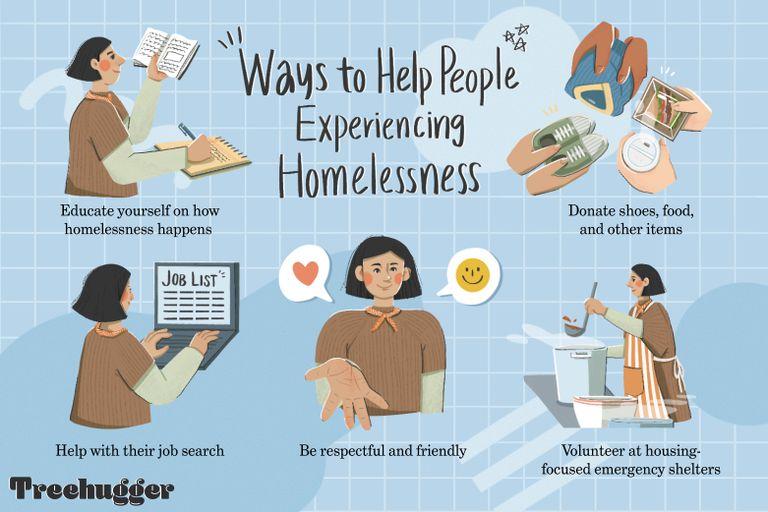 ways to help homeless illo