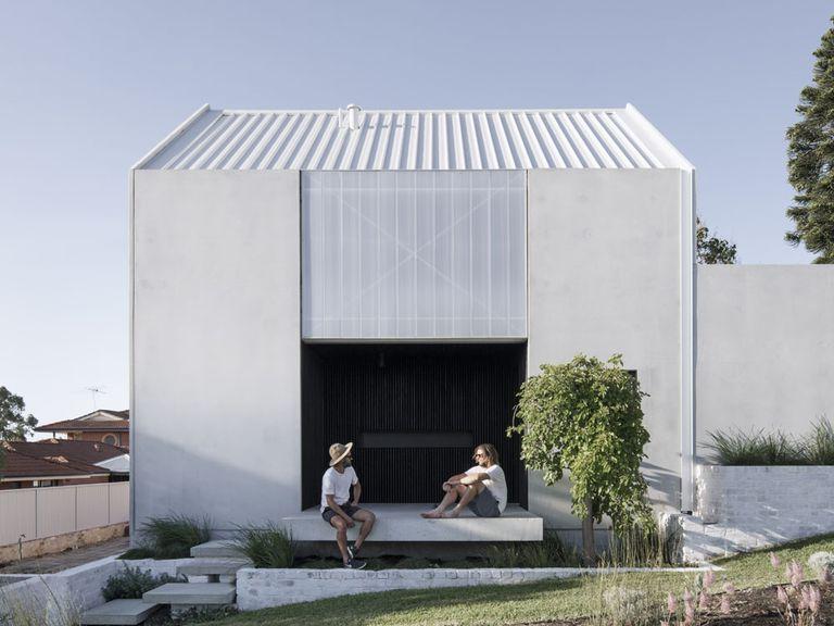 Pequeña casa neutra en carbono en Australia construida con materiales reciclados