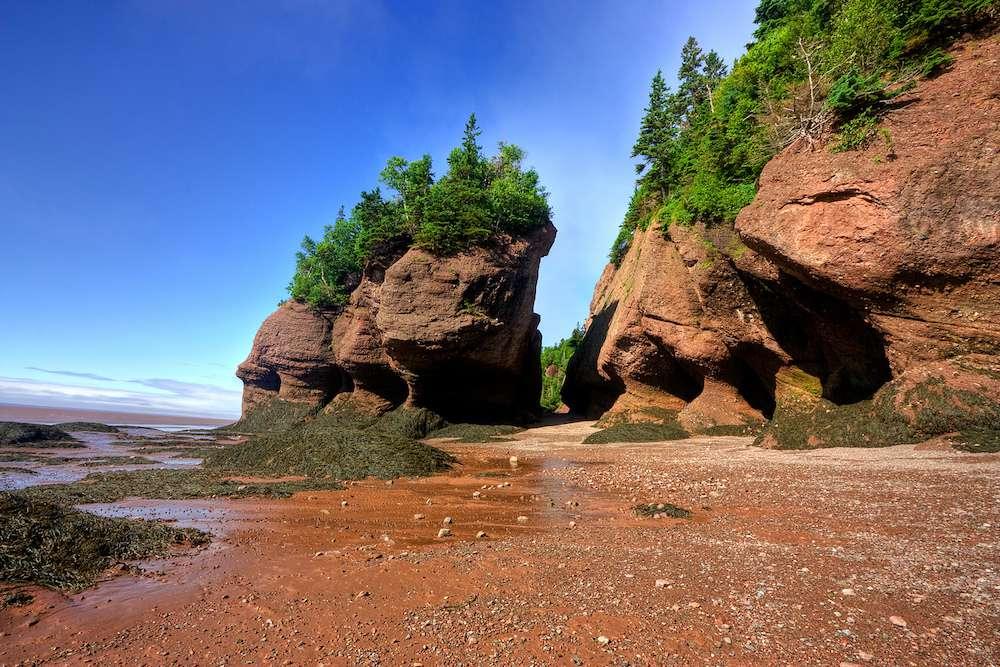 Big rocks at beach
