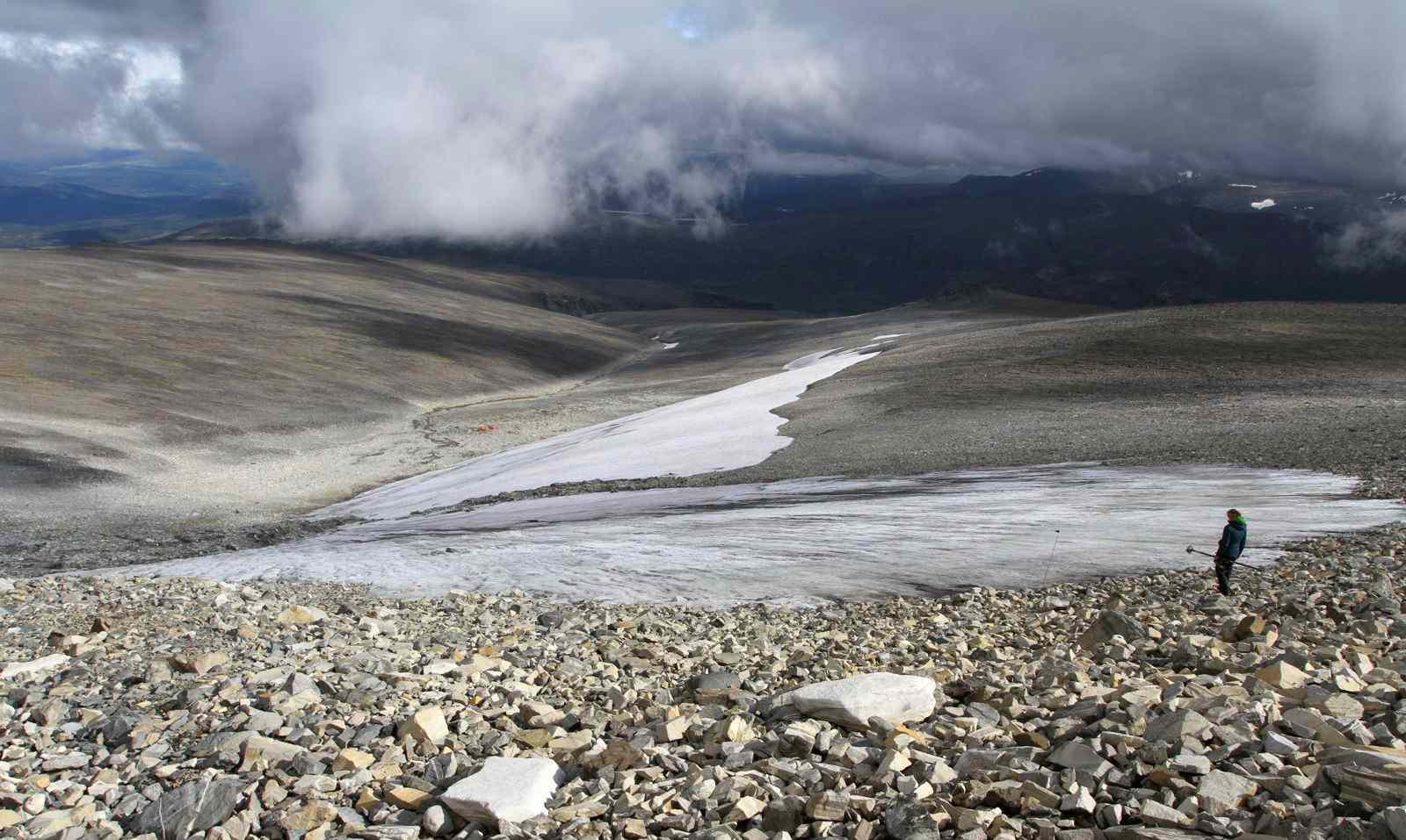 receeding glacier