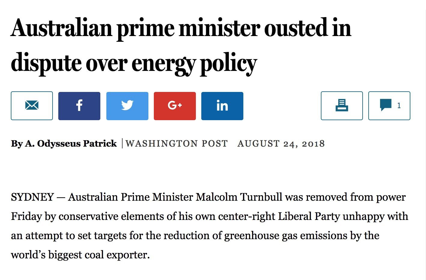 Australia government change