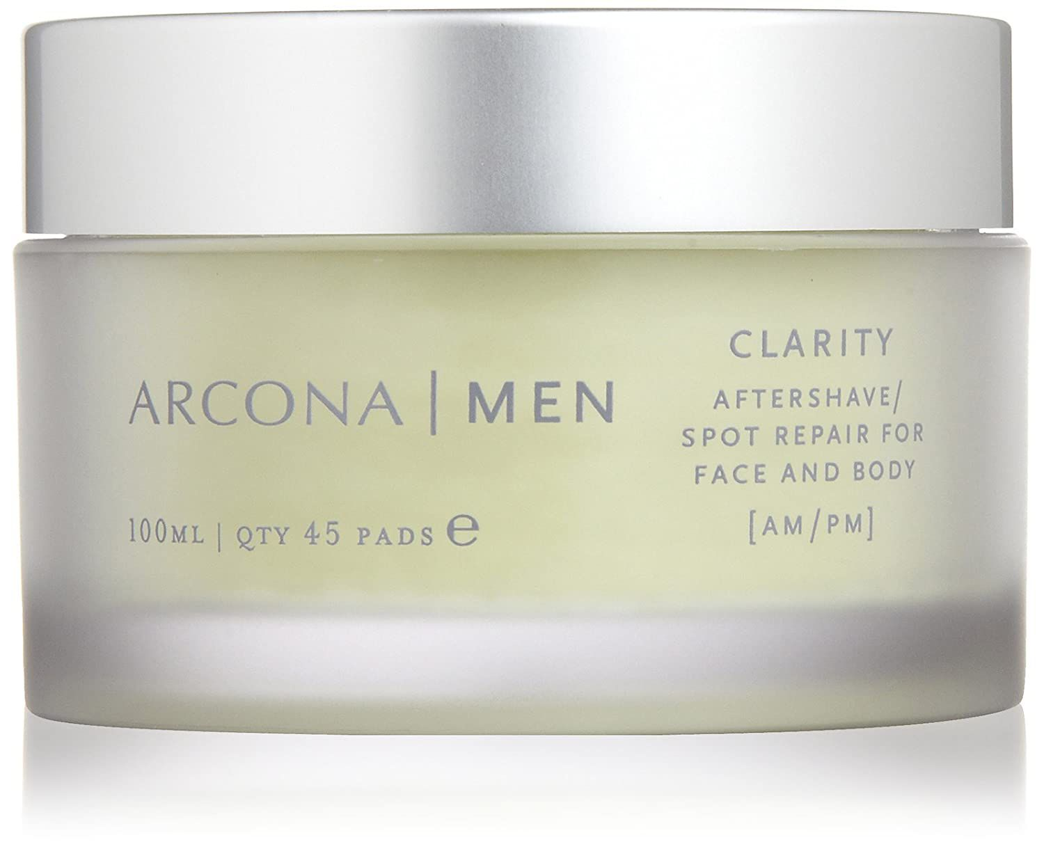 Tub of Arcona men clarity aftershave wipes