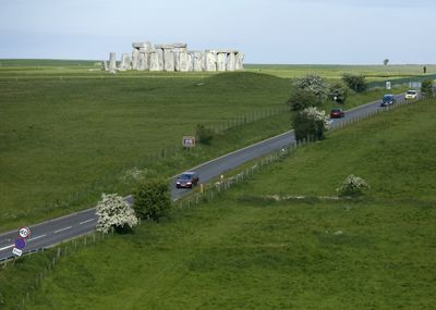 A highway runs right past the world-renowned Stonehenge site in England.