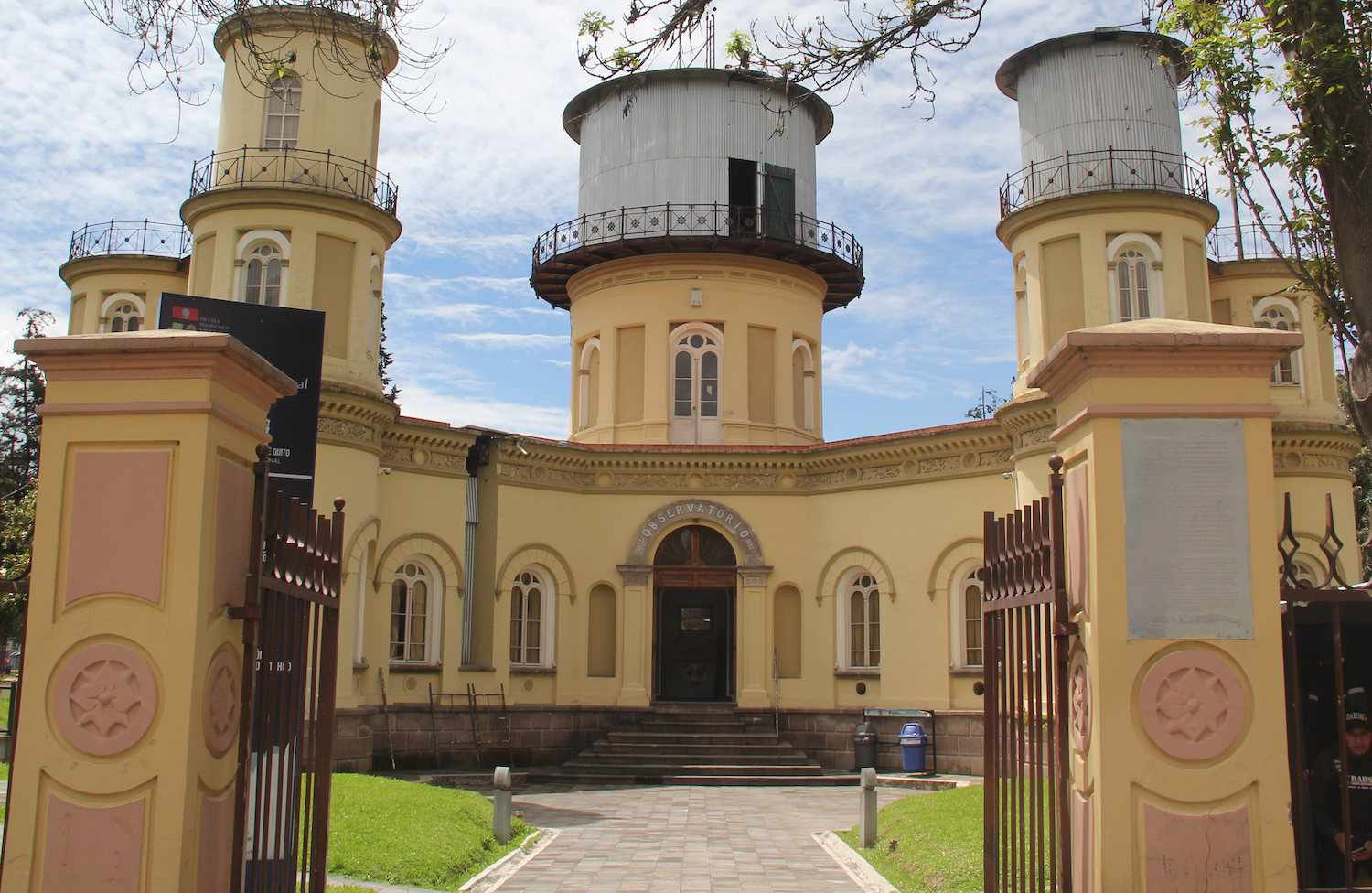 The three towers of Quito Astronomical Observatory in Ecuador
