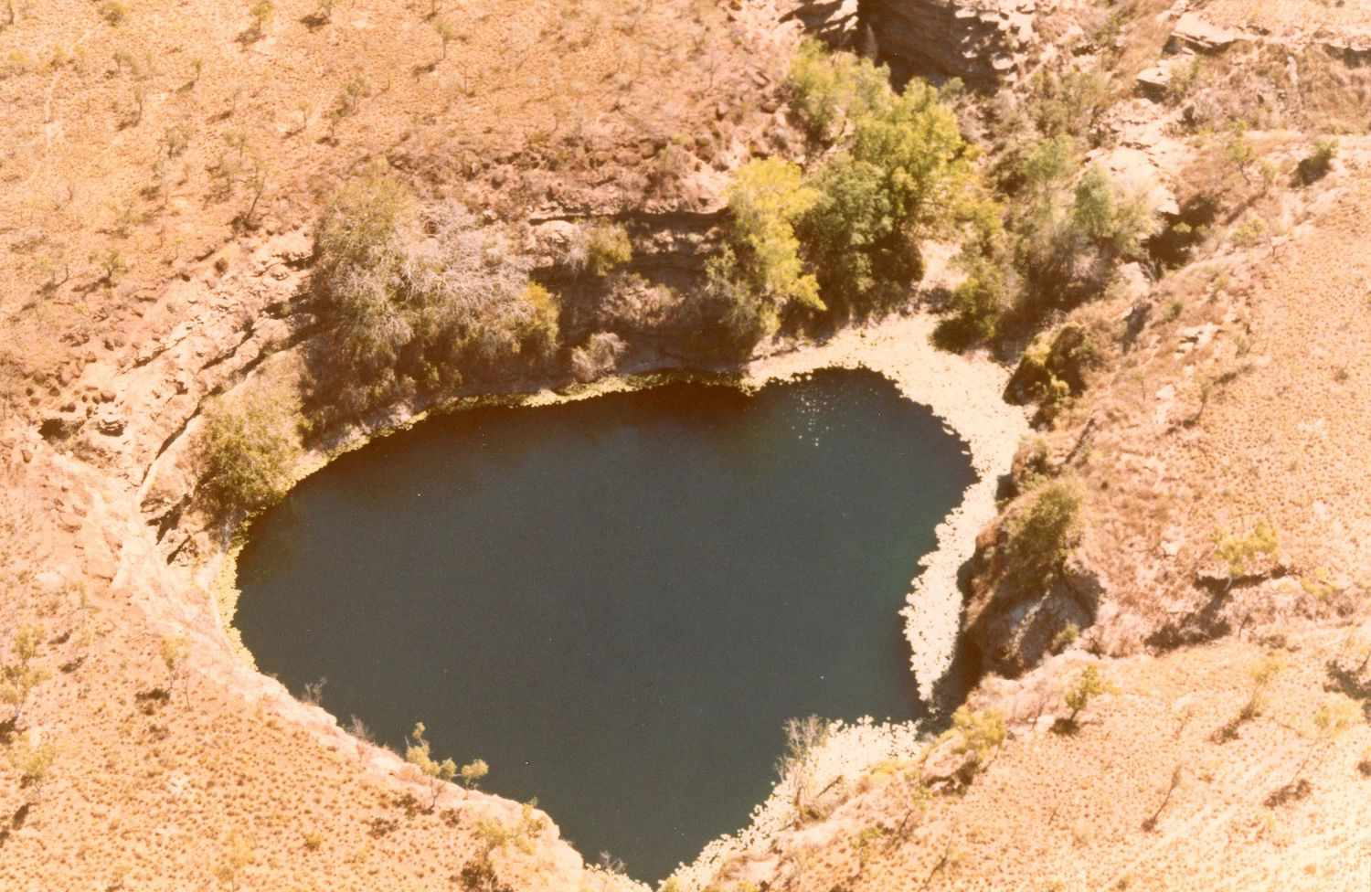 An aerial view of the Numby Numby sinkhole in Australia