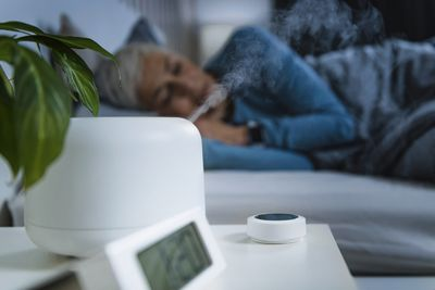 Humidifier running by bed