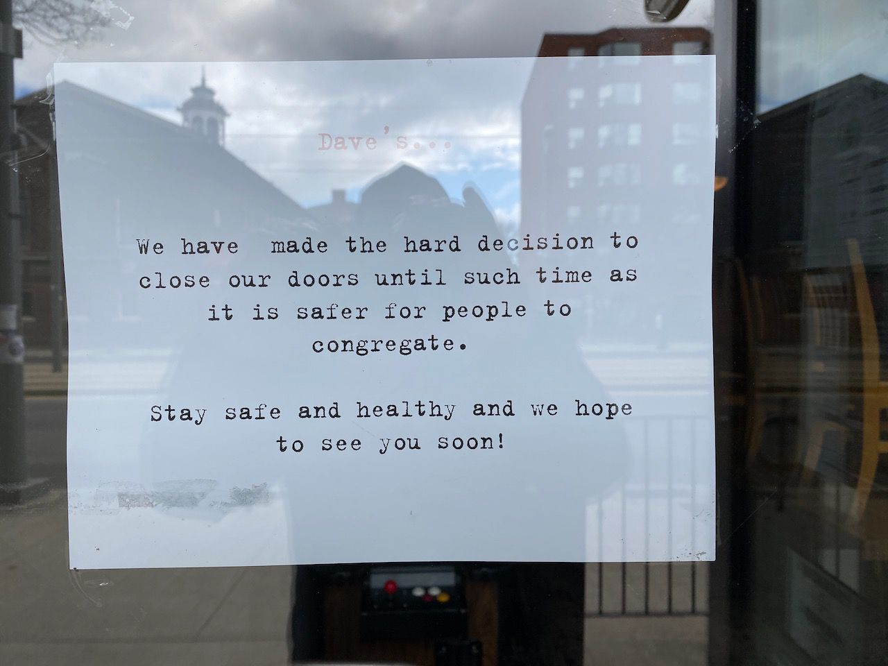 Dave's is closed