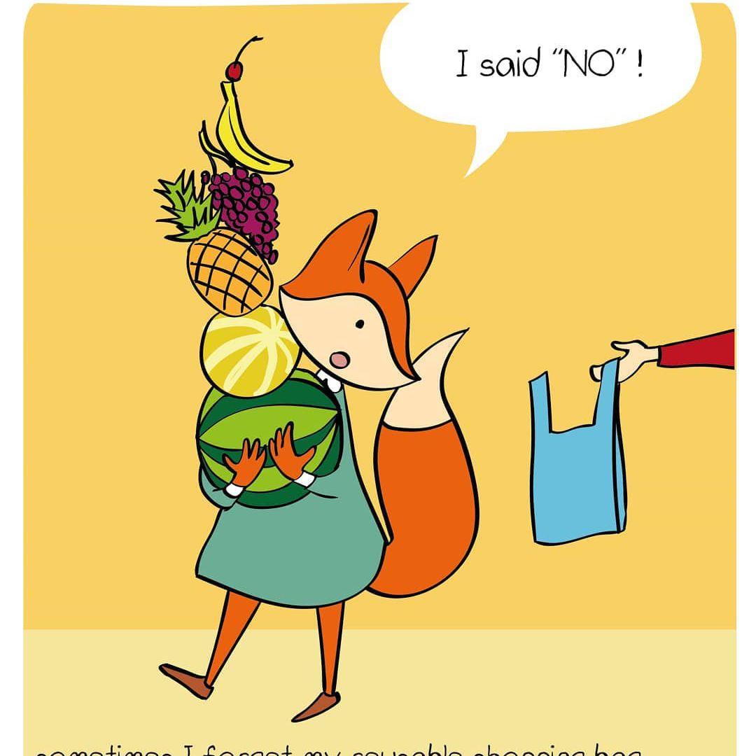 Waste Aware Animals shopping bag