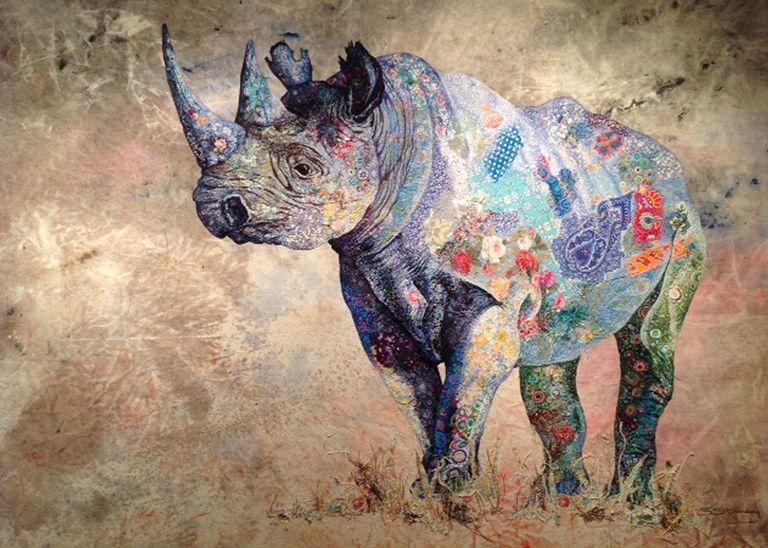 rhino portrait by artist Sophie Standing