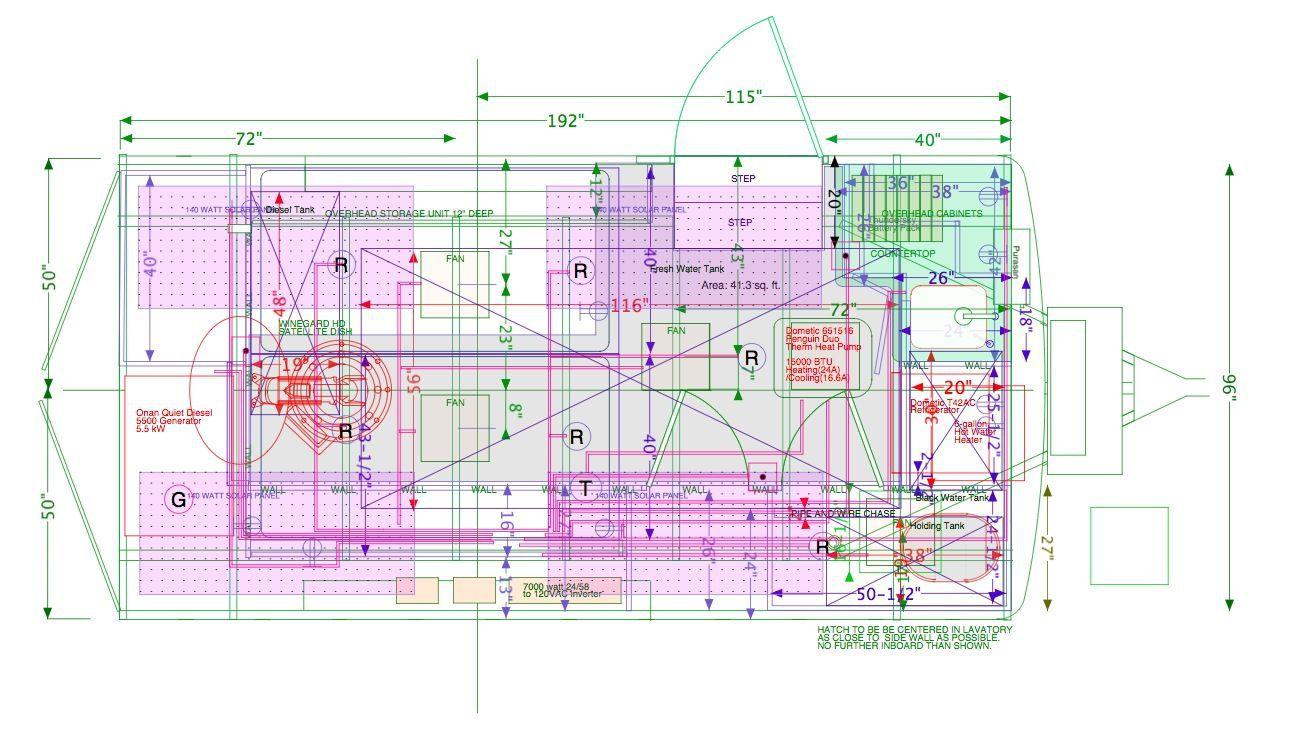 Floor plan for the trailer