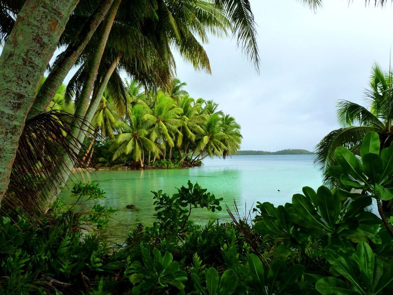 Palmyra Atoll on a cloudy day