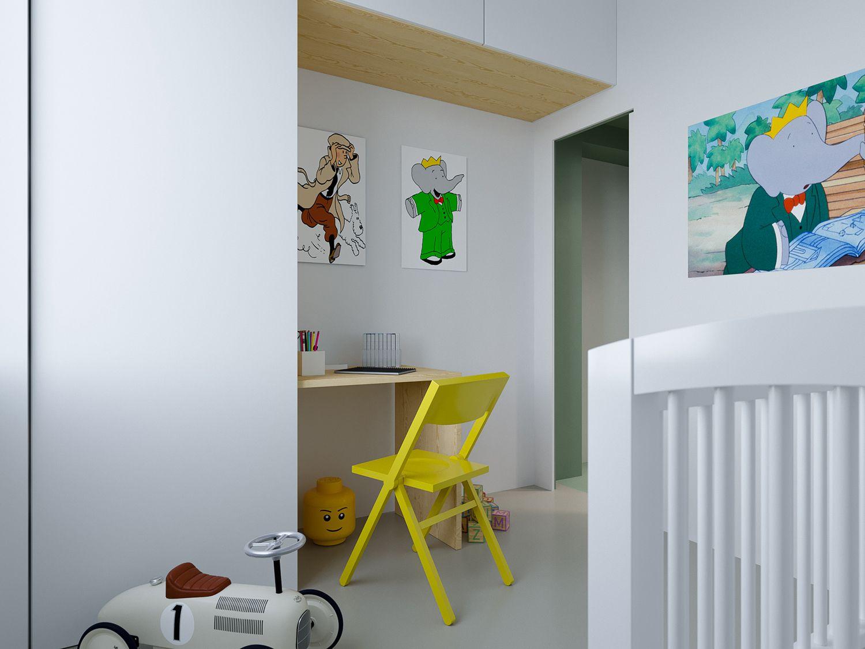maison b micro-apartment POINT.ARCHITECTS nursery